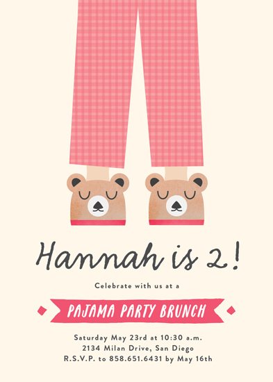 party invitations - Pajama Party by Erica Krystek