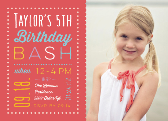 party invitations - Pretty in Coral by Anja Jankowsky