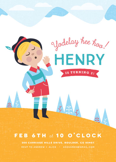 party invitations - mountaintop birthday by merry mack creative