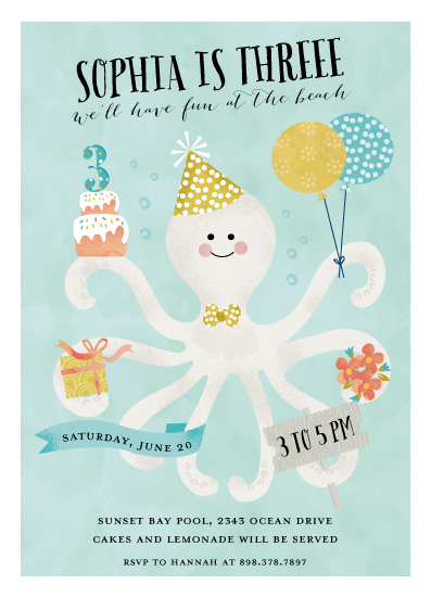 party invitations - Octo Kiss by Petra Kern