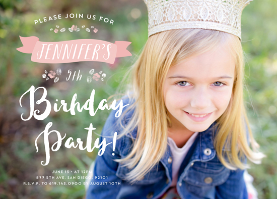 party invitations - Simple Flowers by Jelly Design