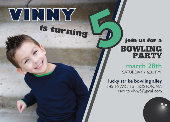 party invitations - Bowling Birthday Party by Tanner Clark