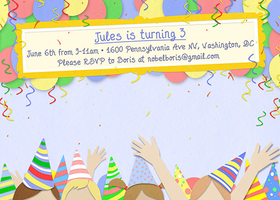 party invitations - kids only - no adults allowed at minted, Party invitations