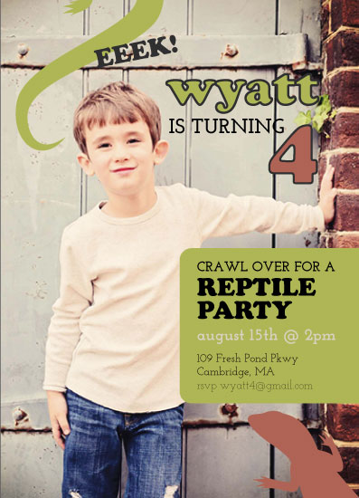 party invitations - Reptile Party! by Tanner Clark