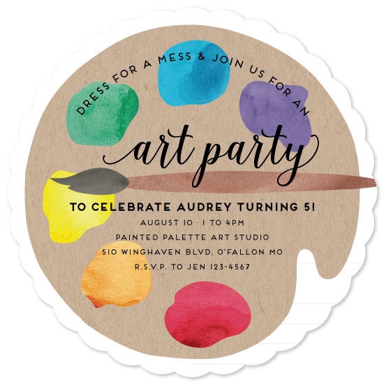 party invitations - arty party by blackberry graphics