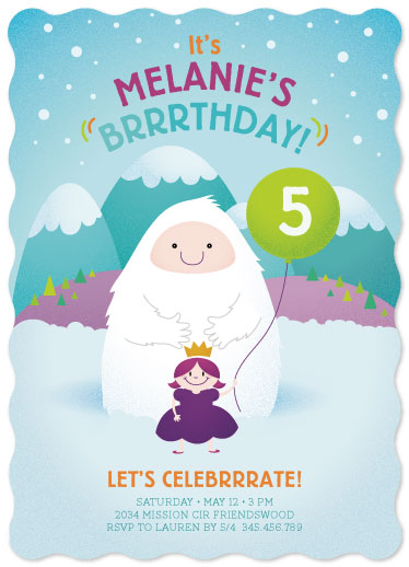 party invitations - Brrrthday Princess by Ele Papers
