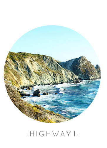 art prints - Highway 1 by Sherei Co.