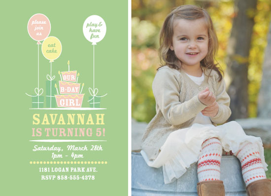 party invitations - Bday Girl 5 by Suzanne MK