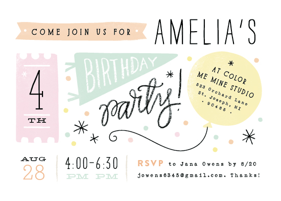 party invitations - Details details by Jennifer Wick