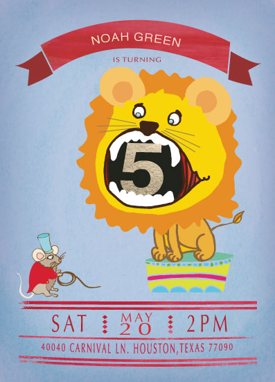 party invitations - TINY LION TAMER by eb