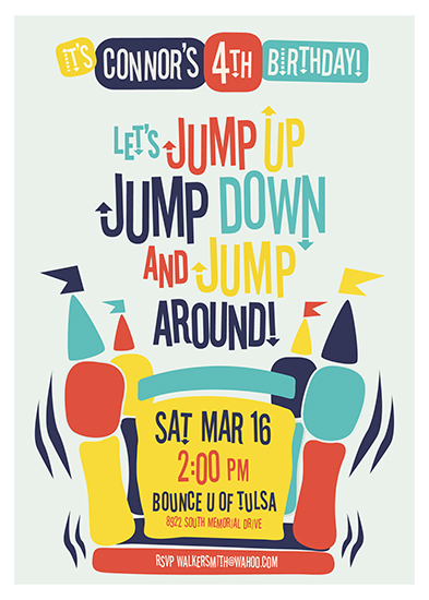party invitations - Jump Around! by Christie Kelly