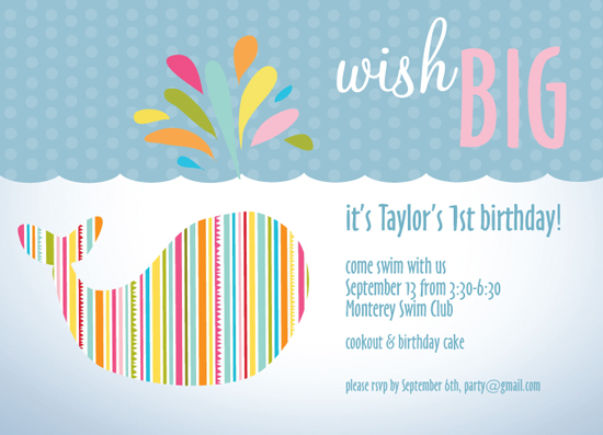 party invitations - Wish Big by Susan Teachey