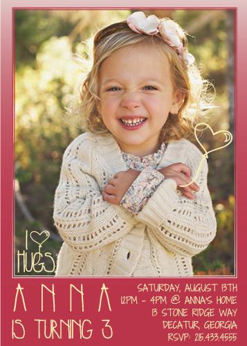 party invitations - I Love Hugs by Nicole Ross