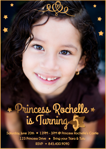 party invitations - Princess Rochelle's 6th Birthday by Nicole Ross