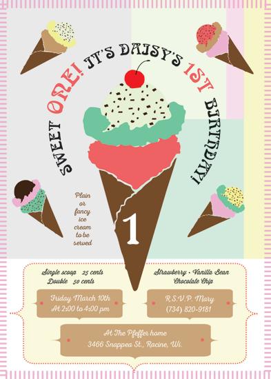 party invitations - Ice Cream Please V2 by Jill Okihiro