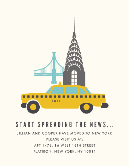 moving announcements - The Big Apple by Kampai Designs