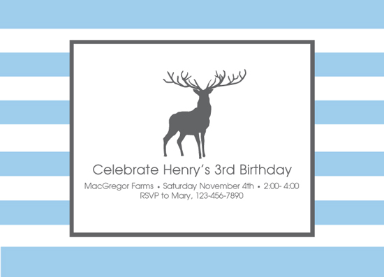 party invitations - Big Buck by Susan Teachey