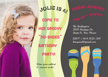 party invitations - Jolie's No-Shoes V4 by Jill Okihiro