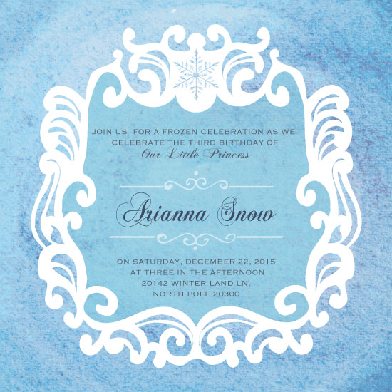 party invitations - royal Snowflake by eb