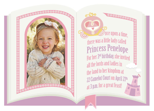 party invitations - Pretty as a Princess by Darcy Terry