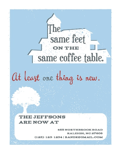 moving announcements - Same Feet, Same Coffee Table by Flowerbox Greetings
