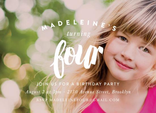 party invitations - Modern Birthday by Chryssi Tsoupanarias