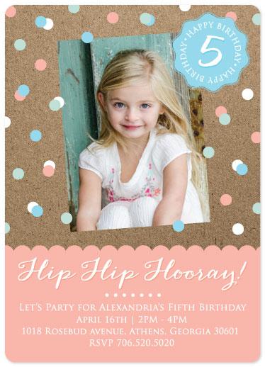 party invitations - Hip Hip Hooray by Erin Jones Turner