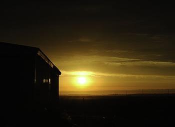 Barn Side Sunrise