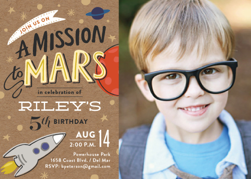 party invitations - Mission to Mars by Griffinbell Paper Co.