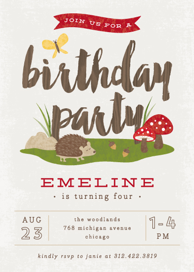 party invitations - Woodland by Lehan Veenker