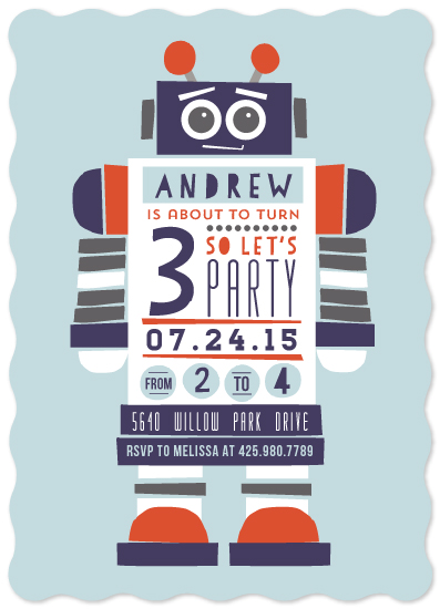 party invitations - The Robot by JeAnna Casper