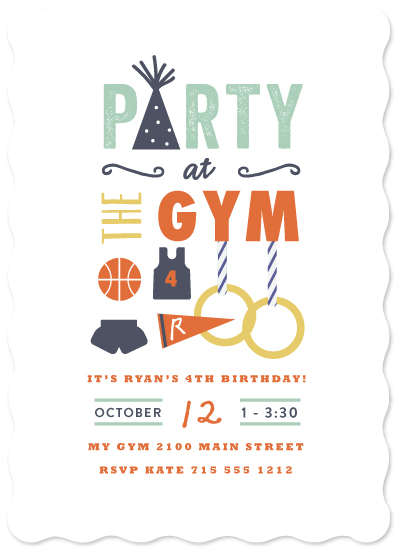 party invitations - Gym Time by Susan Brown