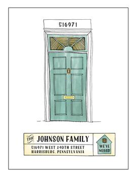 American Colonial Door and House Number