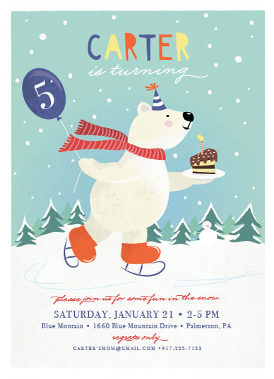 party invitations - Fun in the Snow by Ana Sharpe