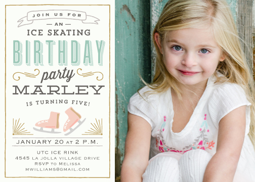 party invitations - Vintage Label by Griffinbell Paper Co.