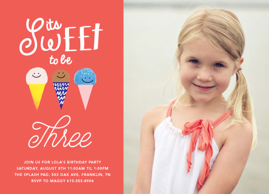 party invitations - Sweet to be by Baumbirdy