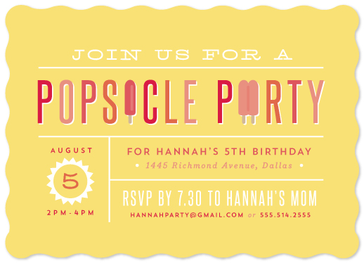 party invitations - Popsicle Party by Lauren Chism