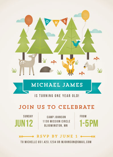 party invitations - Wild Woodland by Michelle Taylor