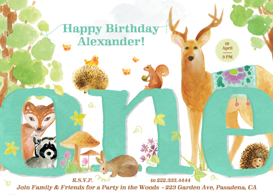 party invitations - In the Woods by Alex Colombo
