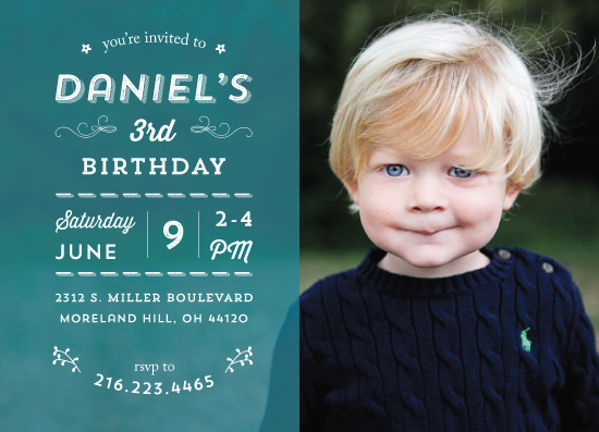 party invitations - Happy in Teal by Anja Jankowsky