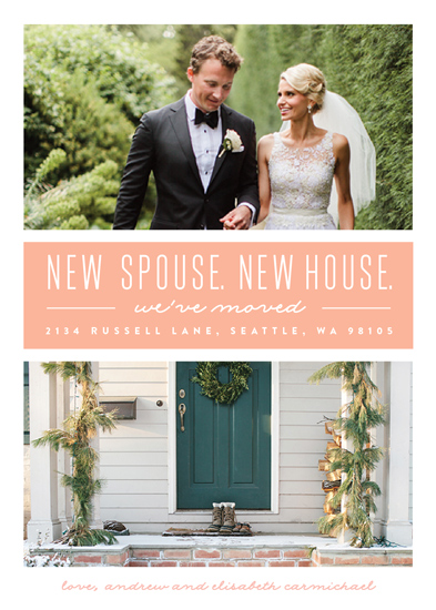 moving announcements - New Spouse, New House by Erica Krystek