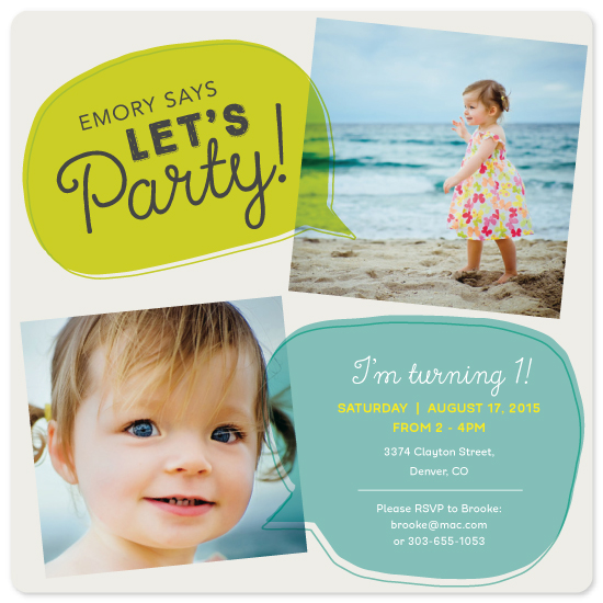 party invitations - Lets Party! by Morgan Newnham