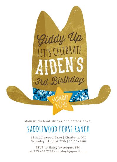 party invitations - Cowboy by Kelly Nasuta