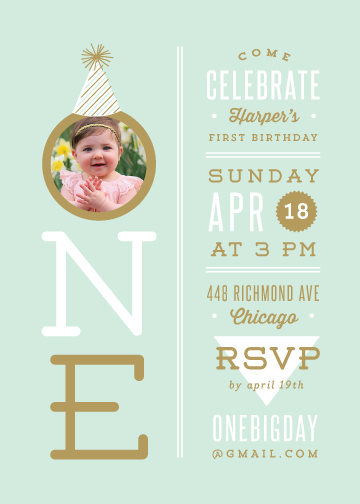 party invitations - Our Little One by Lauren Chism