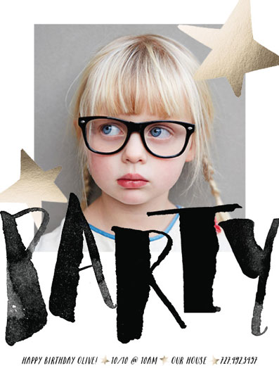 party invitations - Modern Star by Indigo Fable