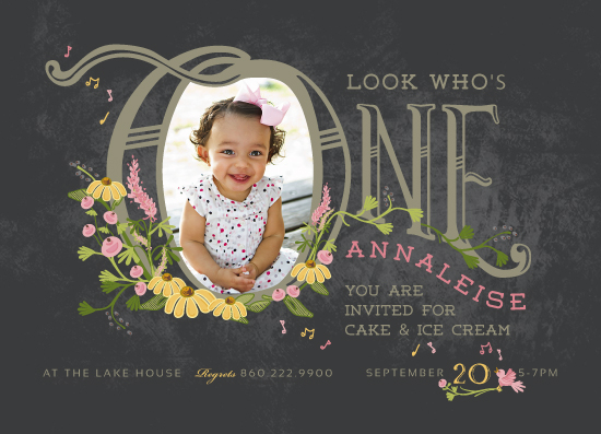 party invitations - Thee Big One by CaroleeXpressions