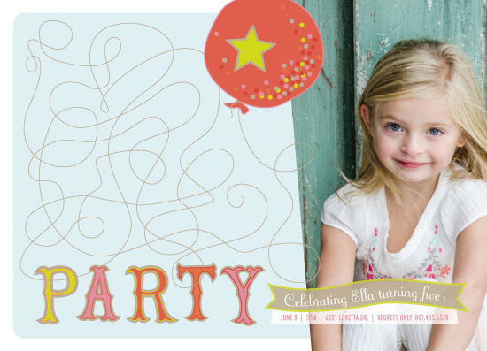 party invitations - Twist and Turn Balloon by Debbie Conrad Johnson