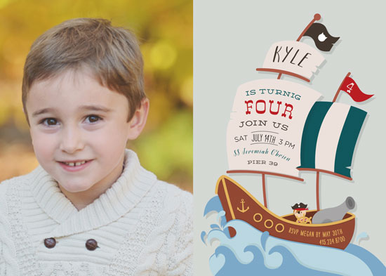 party invitations - little pirates party by andrea espinosa