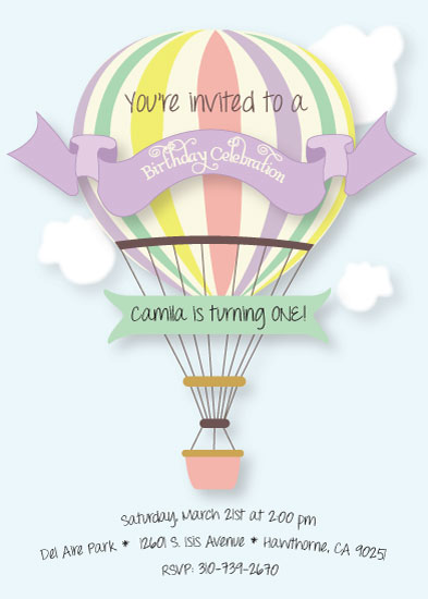 party invitations - Time Flies by Celene Mendez