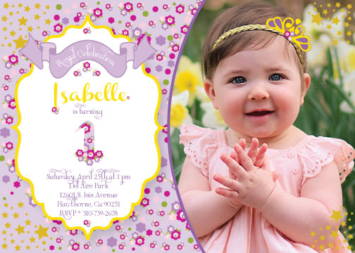 party invitations - Flower Princess by Celene Mendez